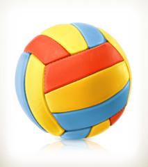 Beach volleyball, vector icon