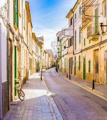 Wall Mural - View of an mediterranean old town street