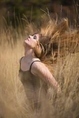 Woman Girl In Field Country Beauty