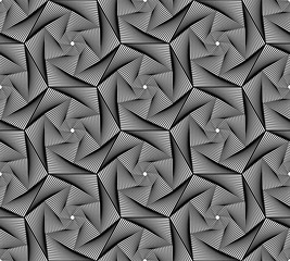 Vector seamless texture. Modern abstract background. Monochrome geometrical pattern with fantastic figures.