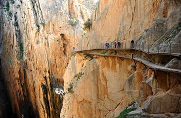 Caminito del Rey en el desfiladero de los Gaitanes, Álora, provincia de Málaga, España