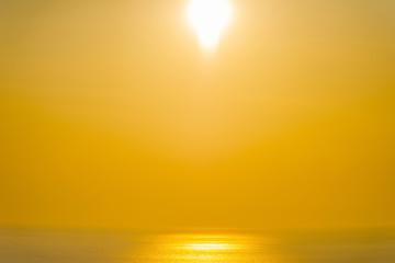 Amazing sunset in Santorini, Greece.
