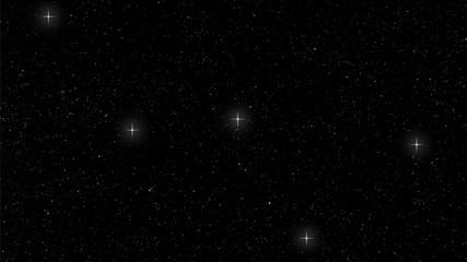 Cassiopeia constellation Starry night
