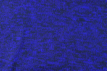 blue knitted wool texture or background