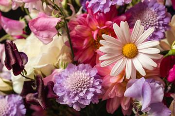 closeup of summer flowers bouquet