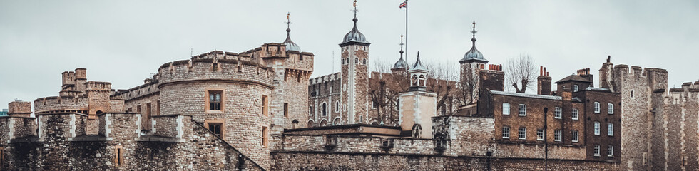 Panoramic view of the Tower of London