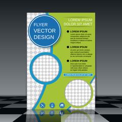 Brochure cover vector design template