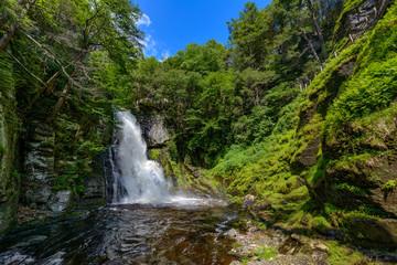 Bushkill waterfall at springtime in Poconos, PA
