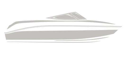 Gray logo boat