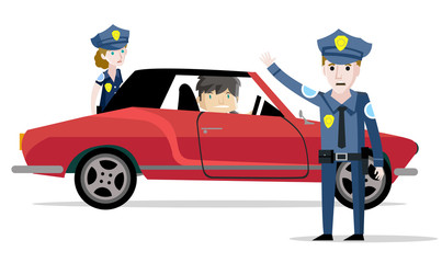 police arrest of a car driver