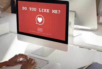 Do You Like Me? Valantine Romance Heart Love Passion Concept