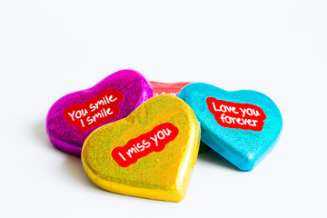 Chocolate wrapper  on Valentine's Day,colorful chocolate heart