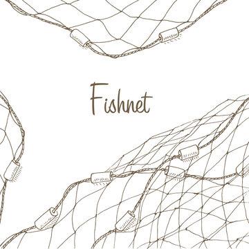 Fishing net background