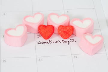 valentine's day ,plan on calendar