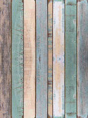 Wall and floor old color wood plank