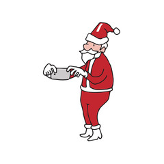 Smartphone taking picture Santa