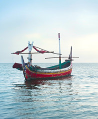 Fishermans boat , Indonesia