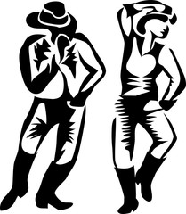 country dance - stylized illustration