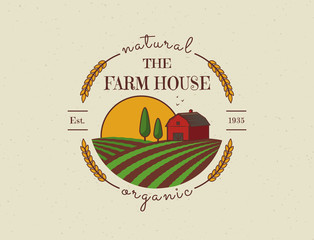 Farm House vector logo.