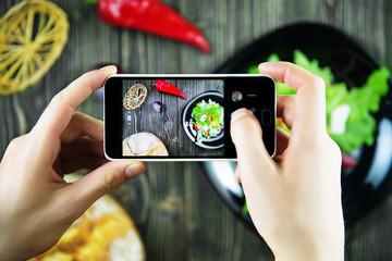food photo on the phone