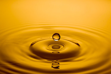 close up of a drop of oil