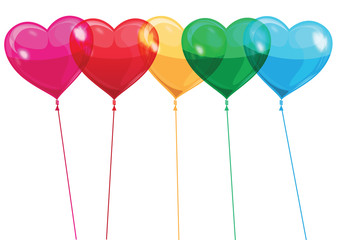 balloon gloss heart vector
