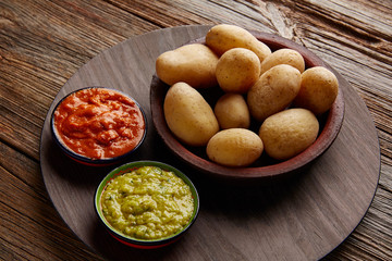Papas al mojo Canary islands wrinkled potatoes