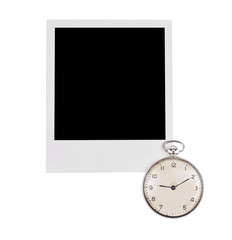 Instant photo frame with vintage watch