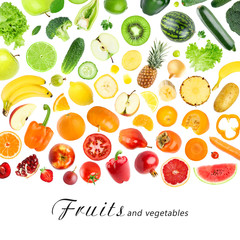 Fruits and vegetables concept