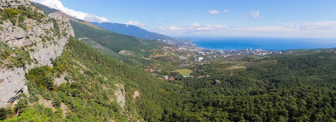 Panoramic views of the Crimean Mountains