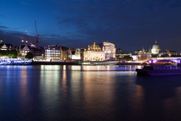 London nights from the piers