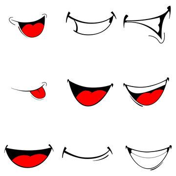 Vector of set smiles