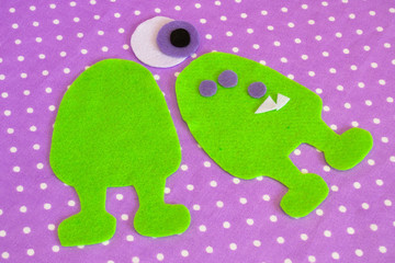 Sewing set for felt monster - how to make a monster handmade toy