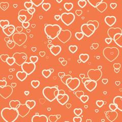 Love background, Valentines wallpaper, heart texture, vector design