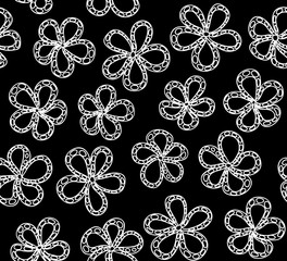 Beautiful vector seamless pattern with flowers. You can use any color of background