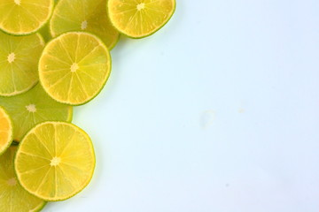 Lime cut into thin slices