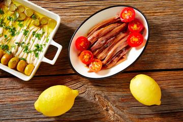 Anchovies vinegar tapas from Mediterranean