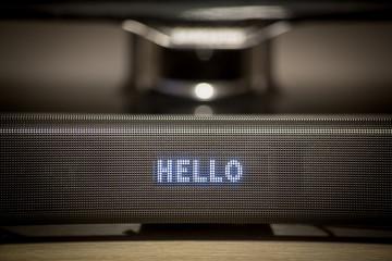Soundbar display close-up