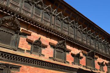 Fassade des Royal Palace in Bhaktapur / Kathmandu, Nepal