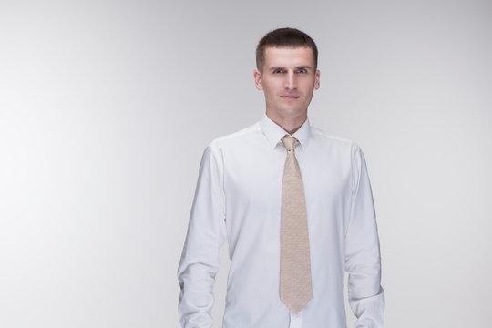 white shirt tie