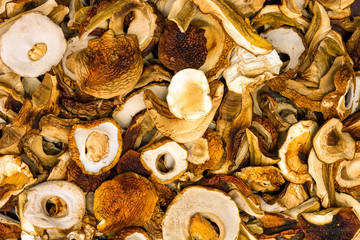 Dried cep mushrooms