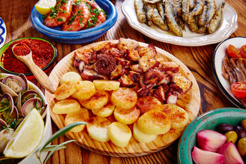 tapas pulpo afeira from spain