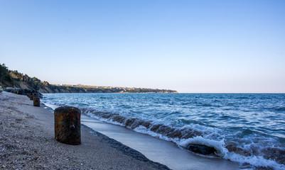 Promenade am schwarzen Meer in der Abendsonne