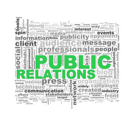 Word tags wordcloud of public relations