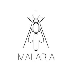 Vector abstract mosquito icon or a logo symbol