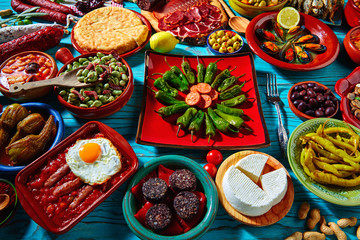 Tapas from spain mix of most popular recipes