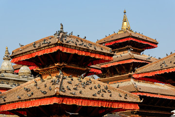 Pagodas at Durbar Square in Kathmandu