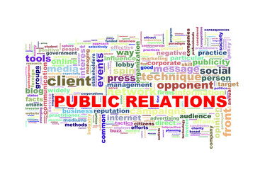 wordcloud  word tags of public relations