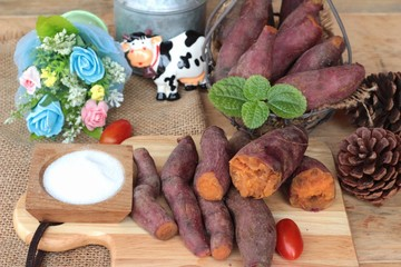 sweet potato boiled with of sugar delicious.