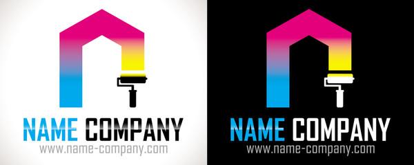 logo peintre artisan bâtiment
